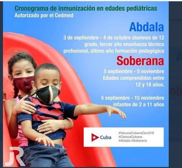 Cuba affiche pour vacciner les enfants