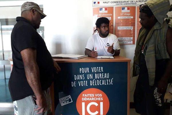Inscription aux bureaux de vote délocalisés pour le référendum