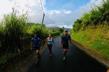 Les trois coureurs de Trail martiniquaisqui prendront le départ du Gran Raid à la Réunion.