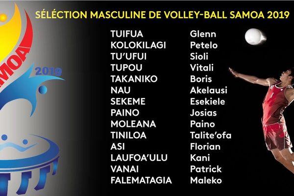 Volleyball : samoa 2019 sélection masculine
