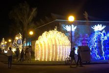 Illuminations au marché de Noël de Kourou