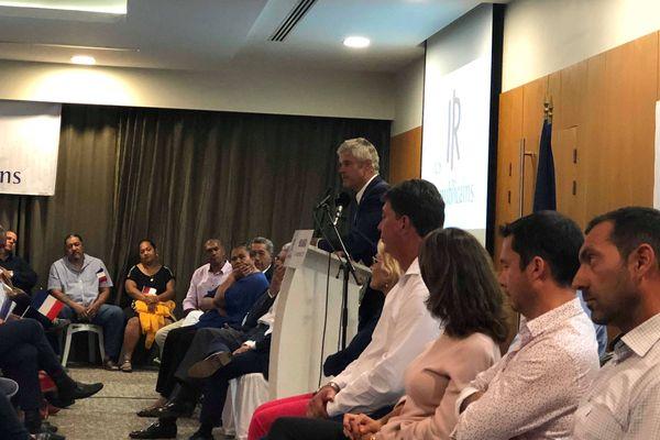 Laurent Wauquiez en meeting à Nouméa, 12 septembre 2018