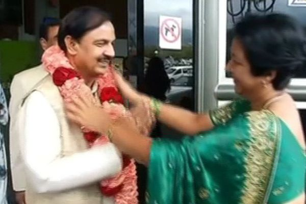 Mahesh Sharma, ministre indien de la culture du tourisme et de l'aviation civile, en visite à La Réunion