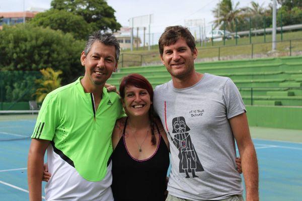 Les organisateurs du tournoi exhibition du TC Receiving (Alexandre Mirault à droite)
