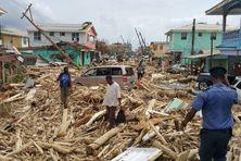 Roseau, la capitale de la Dominique après le passage de l'ouragan Maria