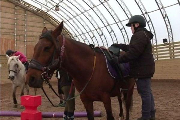 Les cavaliers passent leurs galops
