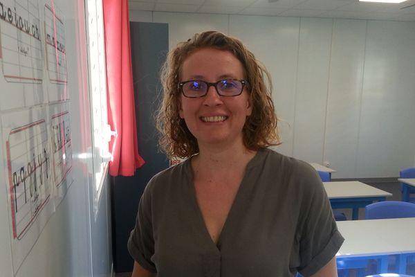 Frédérique Seigle, professeur de CE1, fait sa rentrée scolaire
