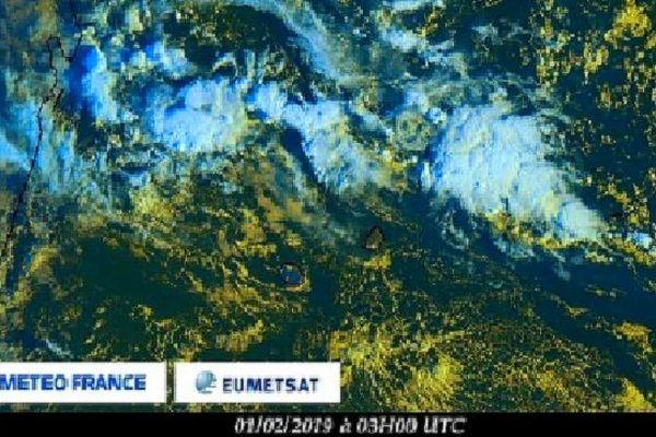 Image satellite météo de l'océan indien