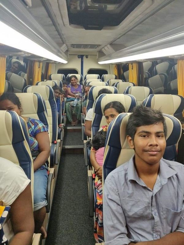 Migrants sri lankais interceptés bus 141218