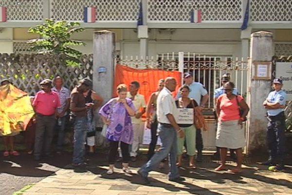 Manifestation gaz Saint-benoît
