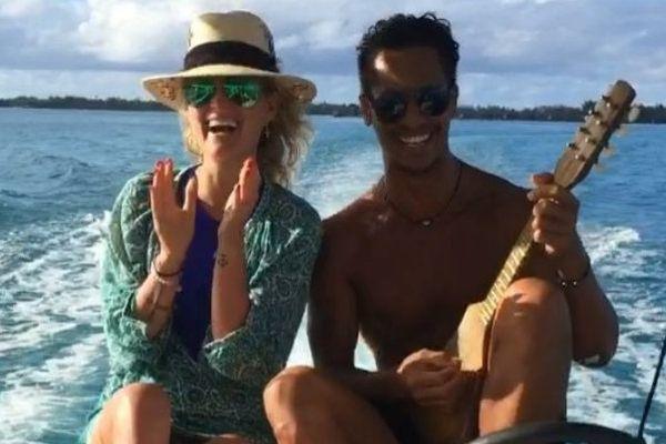 Laeticia Halliday sous le charme de la Polynésie