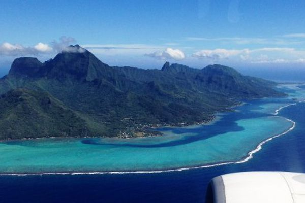 AIR FRANCE AU DESSUS DE MOOREA