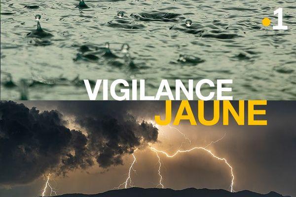 Vigilance Jaune, pluies et Orages