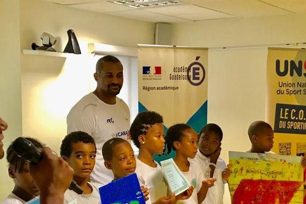 Didier Dinart et les handballeurs