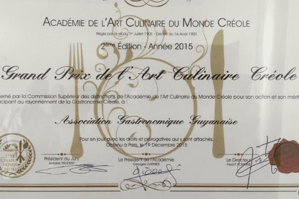 Premier prix de l'art culinaire