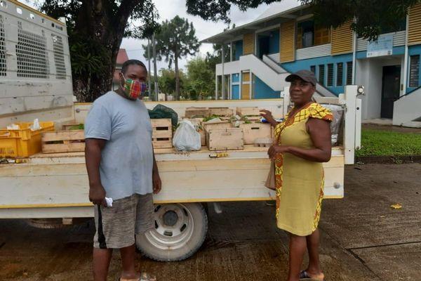 Les mesures barrières respectées à Montsinéry