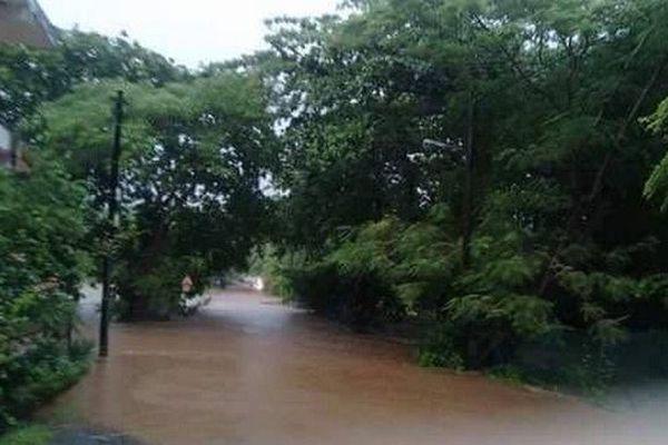 Maurice route inondée