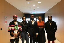 Lénaïck Adam et plusieurs artistes à l'Assemblée nationale, mercredi 15 septembre.