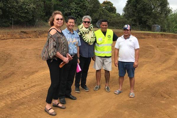 Visite du ministre du Logement et des Transports interinsulaires à Hiva Oa