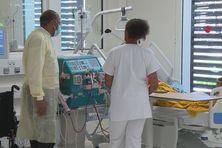 Service  Hémodialyse à l'hôpital Mangot Vulcin au Lamentin.