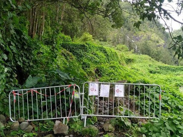 Salazie éboulis sentier fermé voile de la mariée 180120