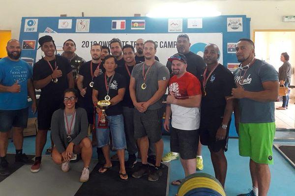 Coupe inter-clubs de force athlétique, samedi 28 juillet 2018, à l'IOH du Mont-Dore.