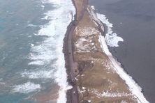 Flavie Bry - vue aérienne de la route coupée