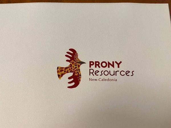 Image d'en tête marqué Prony Resources NC