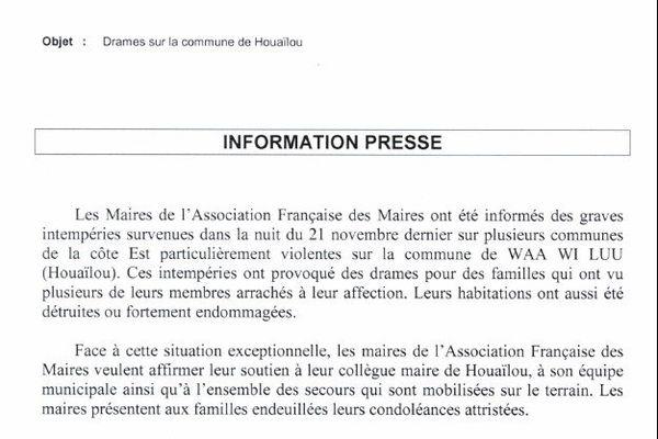 Eric Gay, président de l'Association Française des Maires
