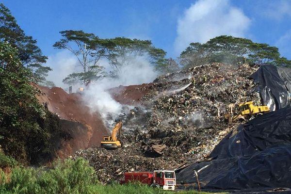 Incendie au CET de Paihoro