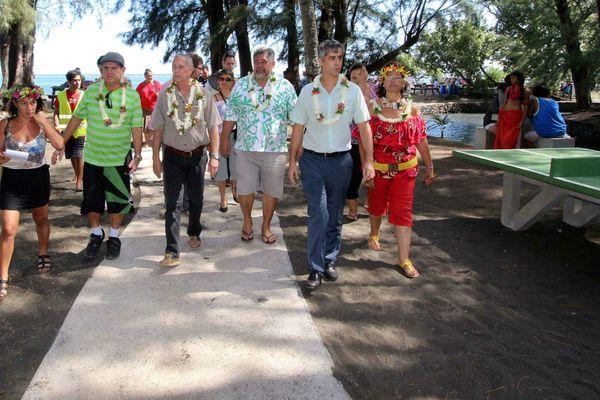 Inauguration des nouvelles installations des pointes Vénus et Tapahi