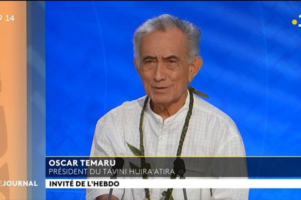 Oscar Temaru était l'invité du journal du dimanche 24 février