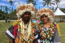 Le grand chef Hippolyte Sinewami-Htamumu et son épouse.
