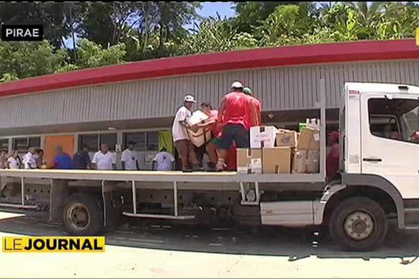 Près de neuf tonnes de denrées pour les sinistrés de la cote Est
