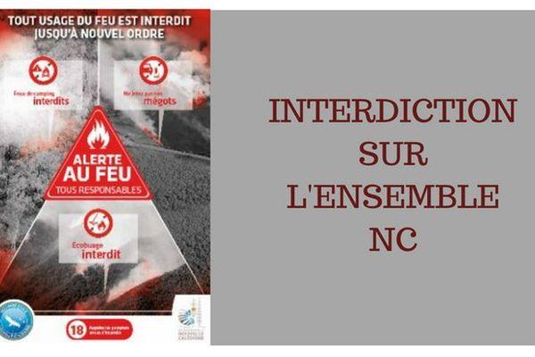 Alerte au feu - interdiction NC