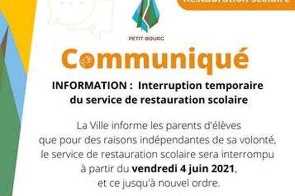 Communiqué Petit-Bourg