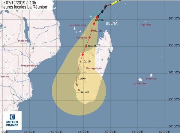 prévision trajectoire Belna