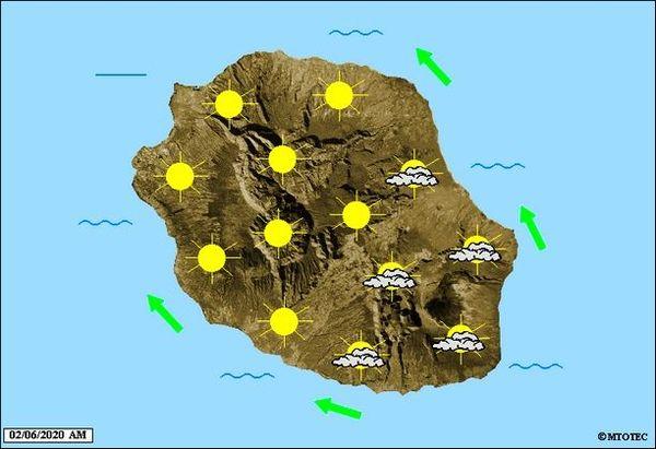 Carte météo 2 juin 2020