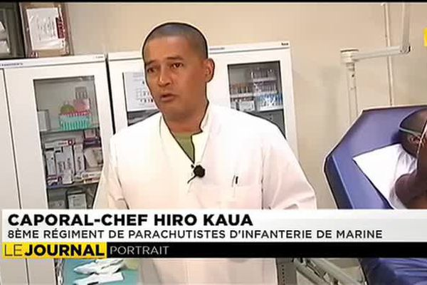 Hiro Kaua, infirmier militaire polynésien engagé au Tchad