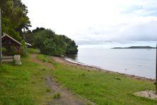 La plage de la salle des communautés, dans le Sud du Mont-Dore, à la mi-janvier.