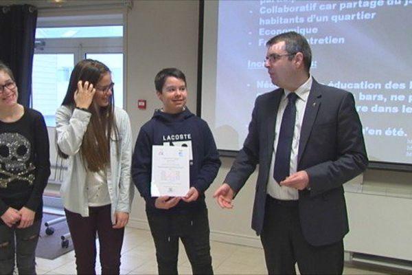 Les élèves de 4e du collège Saint-Christophe ont présenté les résultats de leur travail sur les biodéchets