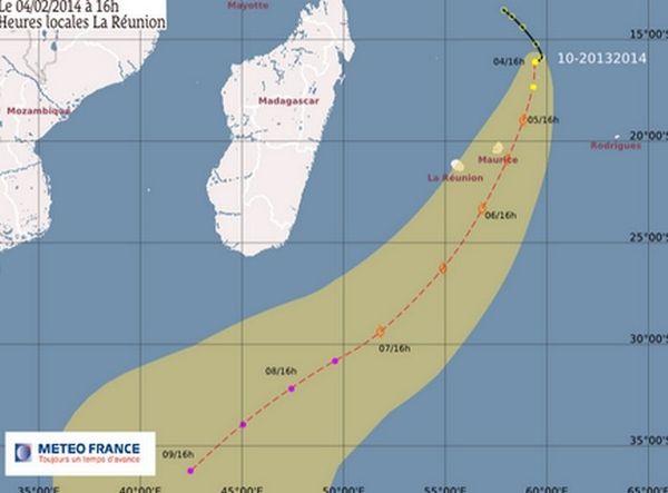 La dépression tropicale est désormais à 665 km de La réunion
