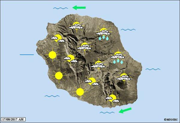 Carte météo du 17 août 2017