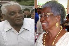 Loulou Boislaville (décédé le 15 mars 2001) et son épouse Simone âgée de 100 ans en février 2021)