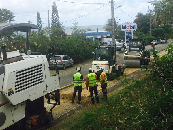 Travaux route Poindimié