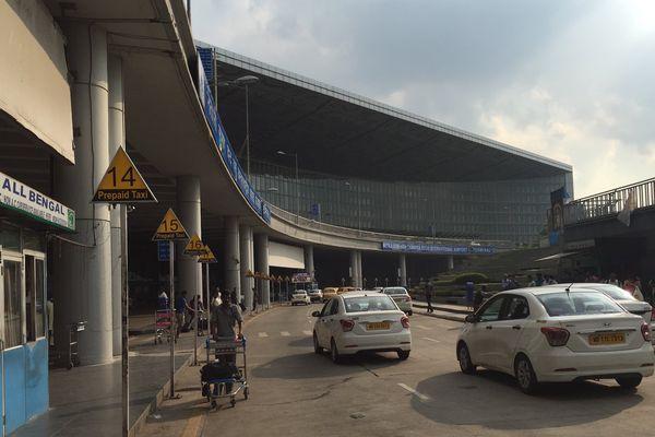 L'aéroport de Kolkata.