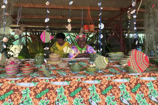 Trentième Foire des îles, Maré, 12 septembre 2020, artisanat en jonc
