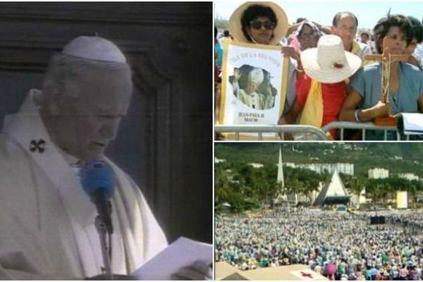 Visite du Pape Jean-Paul II à La Réunion