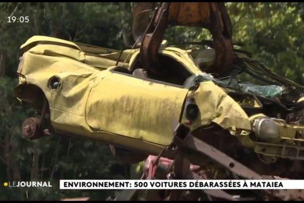 Environnement : 500 voitures débarrassées à Mataiea