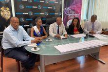 Le comité Miss Martinique et ses avocats au Lamentin.